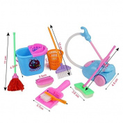Demarkt 9 PCS /Set Colourful Children Plastic Educational Toys Simulation Cleaning Tools Toys for Kids Age 3
