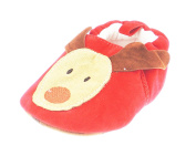 Baby Girls Boys Pram Padder Booties Shoes Red Festive Christmas Reindeer