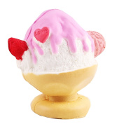 Slow Rebound Decompression Toys Food Squishies Cute Ice Cream Slow Rising Squeeze Toy 1 Pcs Pink