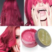 JUHON Colourful Hair Wax Professional Hair Wax Natural Matte Hairstyle Hair Dye Wax for Party Cosplay