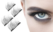Aquarius Professional 3D Double Magnetic lightweight and reusable Eyelashes with Irritation free design Made From High Quality Imported Fibre