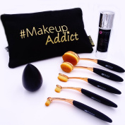 """make-up set """"make up addict"""" by Kinea, the complete set for a soft and elegant make-up. Ideal for preparing your skin and applying Powders, Anti-Wrinkles, Contours, Colours - Black"""