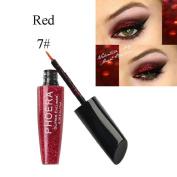 Switchali 10 Colour Metallic Shiny Eyes Eyeshadow Waterproof Glitter Liquid Eyeliner