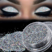 Prevently Brand New Sparkly Makeup Glitter Loose Powder EyeShadow Silver Eye Shadow Pigment