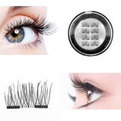 Ultra-thin Magnetic Eye Lashes, Fake Reusable 3D Magnet Eyelashes Extension for Natural Look