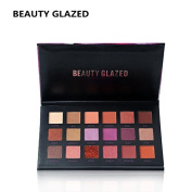 BEAUTY GLAZED Professional 18 Colours Eyes Makeup Easy To Wear Eyeshadow Natural Matte Shimmer Palette Long-lasting Eye Shadow