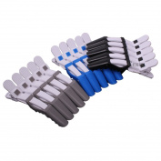 10 pcs Professional Salon Plastic Crocodile Hairdressing Sectioning Clamp Hair Styling Colourful Clip Hair Clip