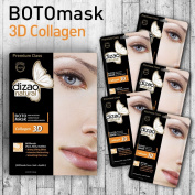 BOTOmask 3D Collagen (5 sheet masks) DIZAO Natural Facial BOTO mask ( Face, Neck, Eyelids) Strong Lifting Effect, Intensive Moist., Smoothing Fine Lines. FREE