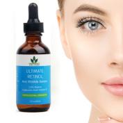 Retinol Serum 60ML-DOUBLE SIZE! Retinol Face Serum with Hyaluronic Acid & Vitamin E, Best Anti Ageing Retinol Serum for Wrinkles, Fine Lines & Sensitive Skin-Clinical Strength-Retinol Serum Treatment