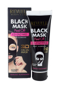 Black Mask Peel Off Co-Enzymes DEEP CLEANSING | With Activate Carbon | Reduces Blackheads by REVUELE