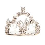 Bodhi2000 Girl's Princess Crown Hair Comb Rhinestone Hair Clip Headdress for Wedding Party Favour