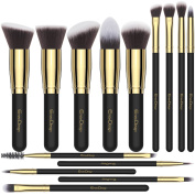 Make up Brushes EmaxDesign 14 Pieces Professional Makeup Brush Set Synthetic Foundation Blending Concealer Eye Face Liquid Powder Cream Cosmetics Brushes Kit