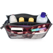 SAVFY Ladies Tidy Travel Insert Handbag Cosmetic Organiser Purse Large Liner Bag Pouch