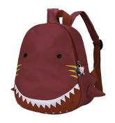 Emartbuy Kids Cute Smart Backpack Rucksack School Nursery Travel Bag - Sharks Pink
