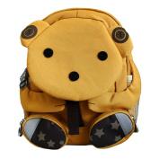 Emartbuy Kids Cute Smart Backpack Rucksack School Nursery Travel Bag - Teddy Mustard
