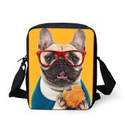 HUGSIDEA Pug Dog Print Cute Mini Cross Body Bags Women Girls Small Should Messenge Bag Adjustabe Handbags