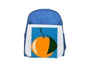 Orange with a leaf in dark green. printed kid's blue backpack, Cute backpacks, cute small backpacks, cute black backpack, cool black backpack, fashion backpacks, large fashion backpacks, black fashion