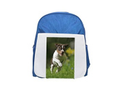 Detail of a dog running on grass, Sweden. printed kid's blue backpack, Cute backpacks, cute small backpacks, cute black backpack, cool black backpack, fashion backpacks, large fashion backpacks, black