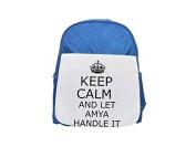 Handle it AMYA Keep calm printed kid's blue backpack, Cute backpacks, cute small backpacks, cute black backpack, cool black backpack, fashion backpacks, large fashion backpacks, black fashion backpac