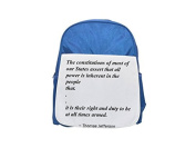 The constitutions of most of our States assert that all power is inherent in the people; that... it is their right and duty to be at all times armed. printed kid's blue backpack, Cute backpacks, cute