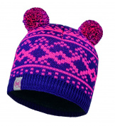 Buff Junior Hat Knitted Polar Novy Plum