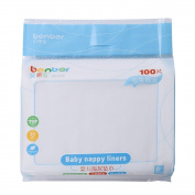 HuntGold 100PCS Disposable Baby Thin Non Woven Fabric Infant Baby Nappy Nappy Liners Insert
