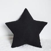 Baozengry Cute Little Star Pillow Handmade Office Sofa Pillow,52X52Cm,Black