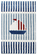 Kids rug HAPPY RUGS ON THE HIGH SEAS 9 blue/white/red 120x180cm