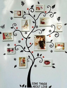 Lh & Fh Tree Wall Stickers White Picture Frames, Set of 8