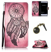 Painted PC PU Silicone Protective Mobile Phone Case Cover Case Skin Shell Cover Case + Dust Plug for Huawei P9)