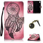 PU Silicone Case Painted PC Phone Case Cover Case Skin Shell Cover for Sony Xperia XP