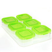 Deylaying Set of 6 Plastic Food Containers Baby Mini Weaning Freezing Pots Boxes Freezer Storage