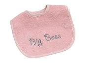 Bebe's Collection Soft Faced Hammer 22 Big Boss Mini Hook and loop Bib – Pink