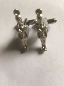 Toy Soldier Guard TG315A Pair of Cufflinks Made From Fine English Modern Pewter POSTED BY US GIFTS FOR ALL 2016 FROM DERBYSHIRE UK