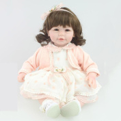 HTTMYY Simulation Little Girl Reborn Baby/Doll Pretty Soft Silicone Child's Toys Festival Gifts 52cm