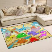 COOSUN Dinosaurs Area Rug Carpet Non-Slip Floor Mat Doormats for Living Room Bedroom 150cm x 100cm