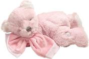 Suki Baby Hug-a-Boo Super Soft Plush Musical Sleeping Bear with Soft Boa Blankie, Pink