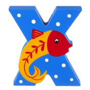 Orange Tree Toys : Wooden Letter X for X-Ray Fish