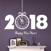 Wall Stickers, SHOBDW 2018 Happy New Year Merry Christmas Wall Sticker Home Shop Windows Decals Decor