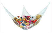 LARGE HAMMOCK FOR SOFT TOY TEDDY KEEP BABY / CHILDRENS BEDROOM TIDY - MESH STORAGE IDEAL FOR NURSERY PLAY - CAN BE USED AS A CORNER HAMMOCK