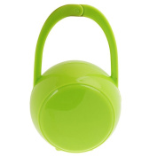 Fostly Infant Baby Travel Soother Dummy Box Pacifier Travel Box Storage Case Pod Holder Baby Carriage Accessories Green