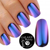 Chameleon Mirror Chrome Nail Shifting Powder Multi Colour Changing Glitter Blue Purple Effect
