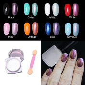 Nail Powder,Cheap4uk 1.0g Neon Aurora Pigment Holographic Fashion Trend Laser Rainbow Glitter Chrome Powder Nail Art