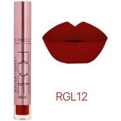 Xshuai 12 Colours Fashion Waterproof Long-Lasting Moisturiser Velvet Matte Liquid Lipstick Cosmetic Sexy Lip Gloss Kit for Women