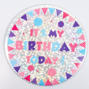 Large Holographic Birthday Badge (Pattern 4) - It's My Birthday Design