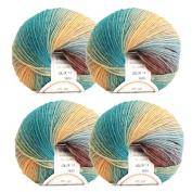 4 x 50g Knitting Crochet Yarn Colourful Soft Cashmere Wool