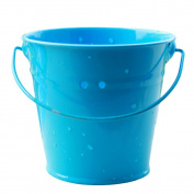Nacpy Small Iron Bucket Small Metal Buckets Mini Metal Bucket Tin Candy Box Buckets Souvenirs Gift Pails Blue