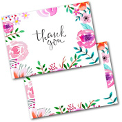 *NEW* Pack of 20 Thank You Cards Thankyou Adult Floral Postcards Cards with Envelopes