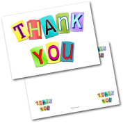 *NEW* Pack of 20 Thank You Thankyou Kids Blocks Postcards Cards with Envelopes