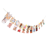 VEYLIN Birthday Month Banner 1st Birthday Bunting Garland Baby 1-12 Month Photo Prop for Baby Birthday Party Decoration